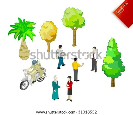 Isometric Objects Vector - stock vector