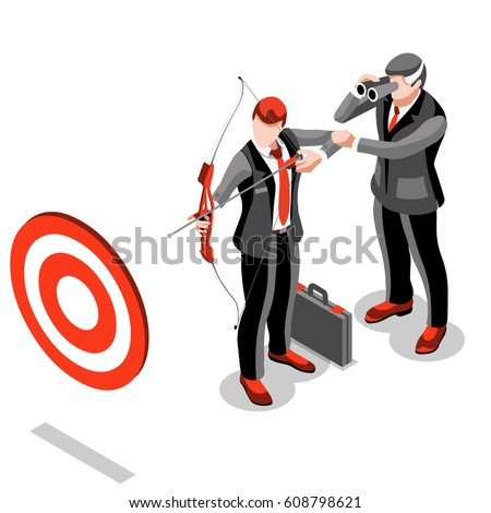 isometric people isolated businessman meeting bank stock vector rh shutterstock com