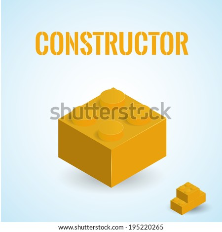 isometric plastick constructor - stock vector