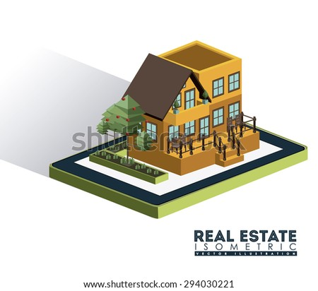 Isometric Real Estate digital design, vector illustration eps 10