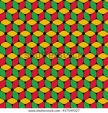 Isometric Repeating Cube Based Pattern Wallpaper