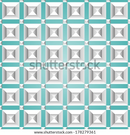 Isometric seamless pattern. Abstract 3D background. EPS 8 vector illustration. - stock vector