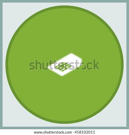 Isometric sim card illustration. - stock vector