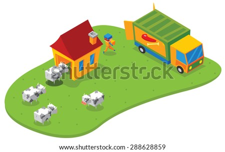 isometric slaughtering house