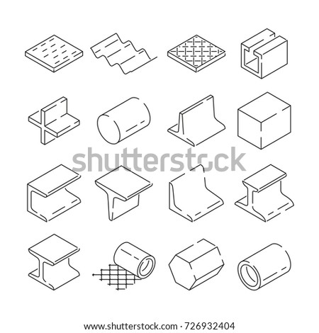 Isometric Symbols Metallurgy Pictures Iron Steel Stock Photo Photo
