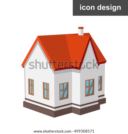 Isometric vector illustration of urban homes