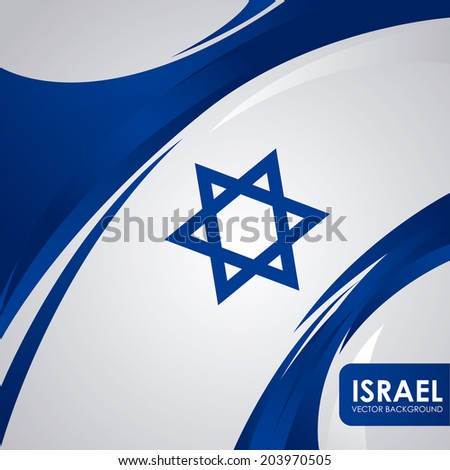 Israel design over white background, vector illustration - stock vector