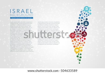 Israel dotted vector background