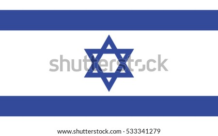 Israel flag, vector