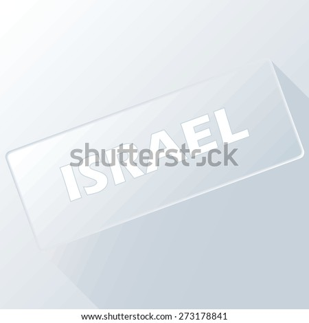 Israel unique button for any design. Vector illustration