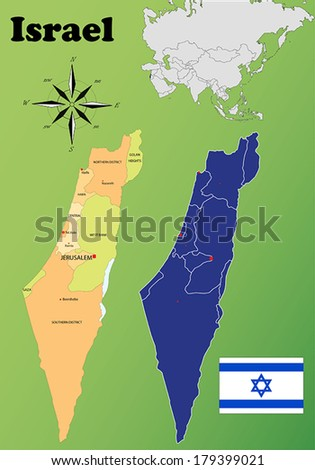 Israel vector set. Isolated - stock vector