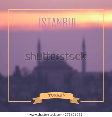 Istanbul blurred photo background. Vector illustration