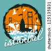 istanbul city vector art - stock vector