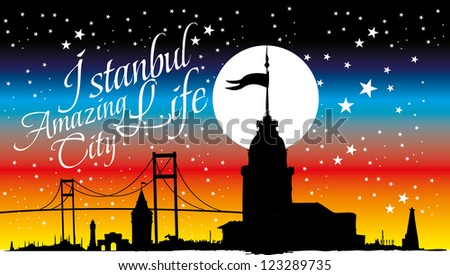 istanbul city vector art - stock vector
