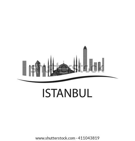 Istanbul logo vector illustration. istanbul silhouette - stock vector