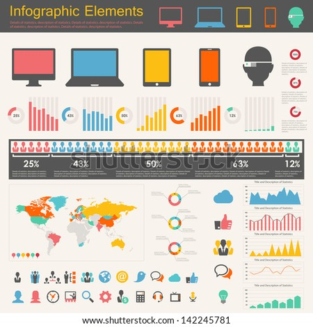 IT Industry Infographic Elements - stock vector