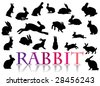 It is a collection of silhouettes - stock vector