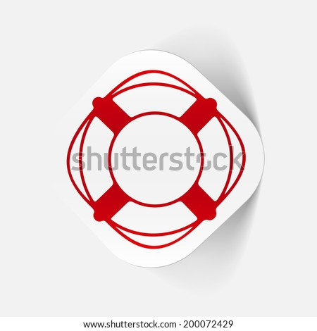 it is a realistic element of modern design - stock vector