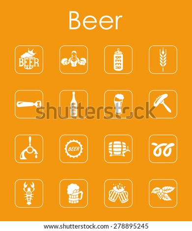 It is a set of beer simple web icons - stock vector