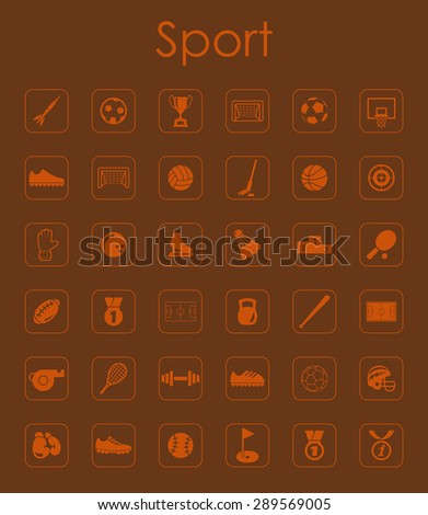 It is a set of sport simple web icons - stock vector