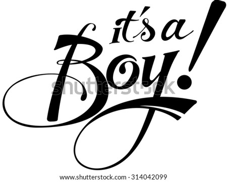 It's a boy! - stock vector