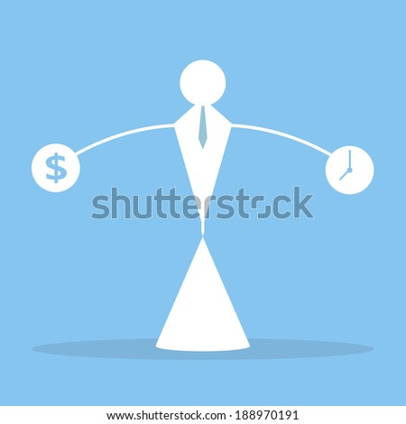 It's hard to balance your life, Business concept. - stock vector