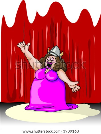 it's not over till fat lady sings - stock vector