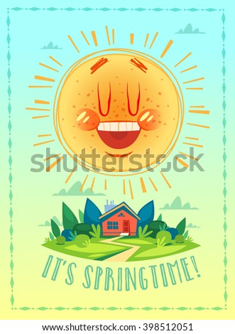 It's springtime. Poster / card / background. Vector illustration - stock vector