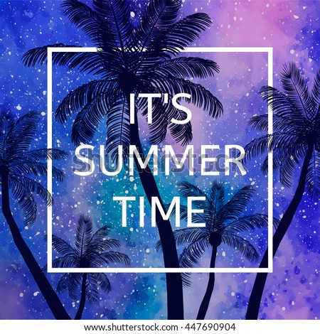 Its Summer Time Wallpaper Fun Party Background Picture Art Design
