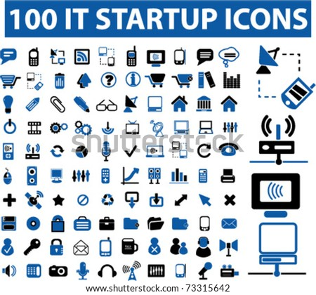 it startup icons - stock vector