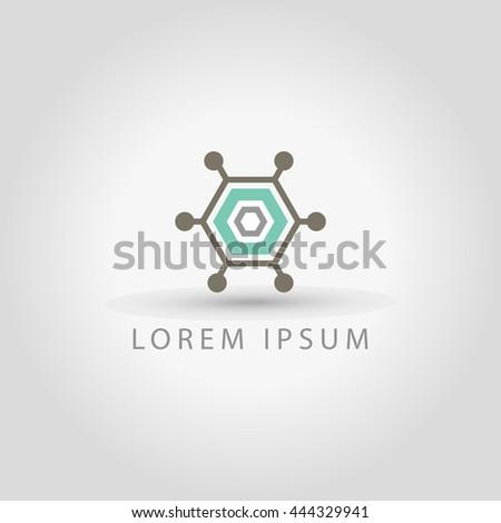 It, tech logo icon design template elements vector sign - stock vector