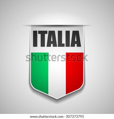 Italia (Italy) - stock vector