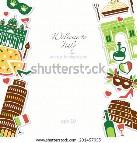 Italian background illustration - stock vector