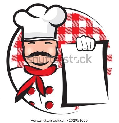 italian chef - stock vector
