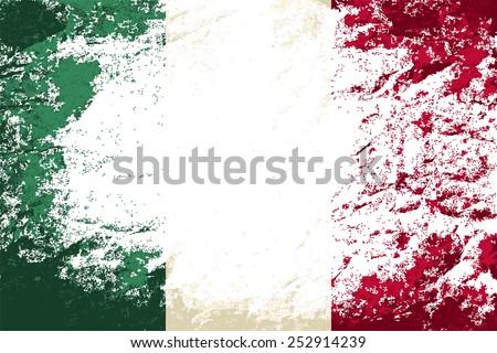 Italian flag Grunge background. Vector illustration Eps 8. - stock vector