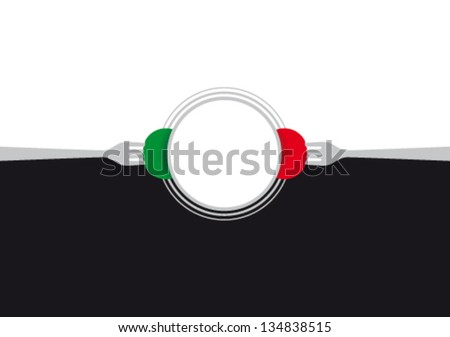 Italian food background - stock vector