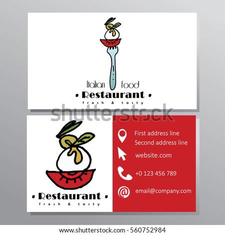 Italian food restaurant business card stock vector 560752984 italian food restaurant business card colourmoves