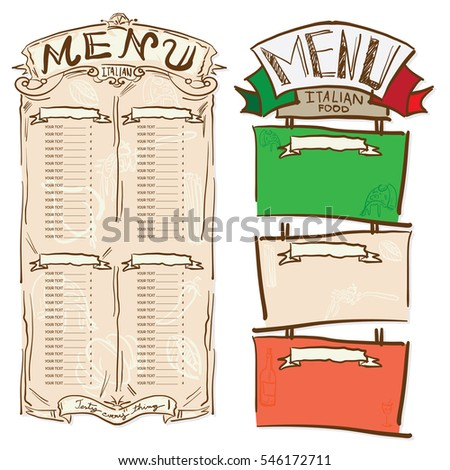 Food Menu Template Stock Images RoyaltyFree Images  Vectors