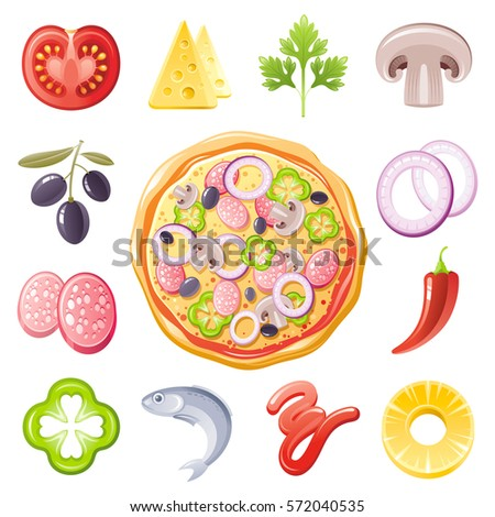 Parsley Illustration Vector Pizza Ingredien...