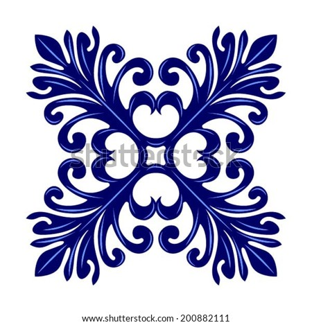 Italian traditional ornament, Mediterranean seamless pattern, tile design, vector illustration - stock vector