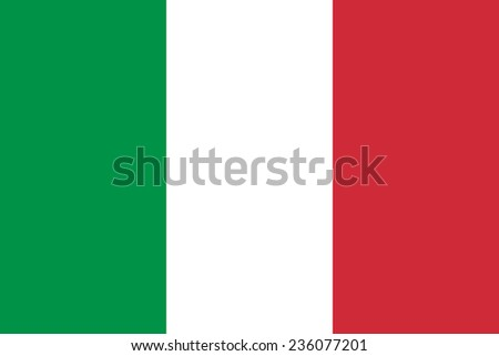Italy flag - stock vector