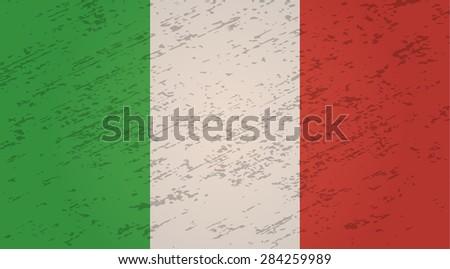 Italy grunge style flag. Vector EPS10 - stock vector