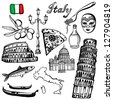 Italy illustration - stock vector