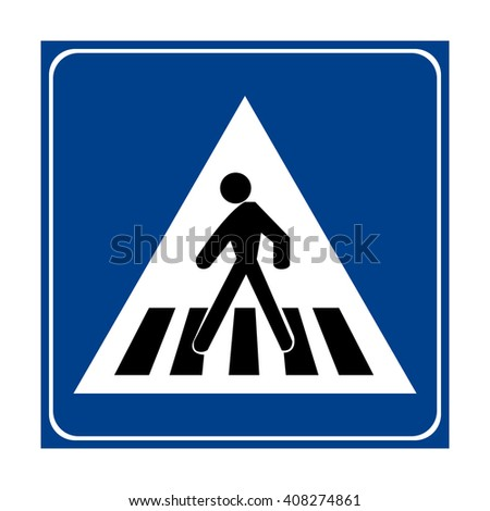 Italy Pedestrian Crossing Sign