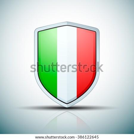 Italy  shield sign - stock vector
