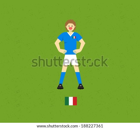 Italy Soccer Tables  - stock vector
