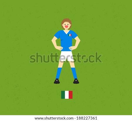 Italy Soccer Tables  - stock vector