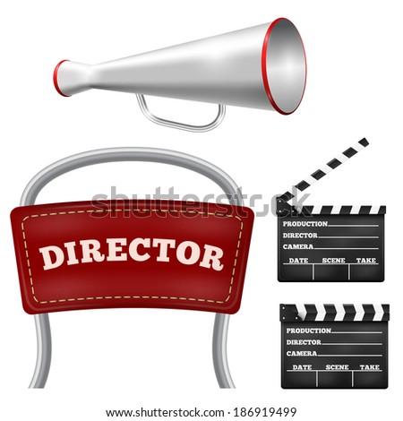 Items cinema - stock vector