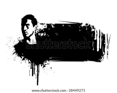 Its a grunge face vector design - stock vector