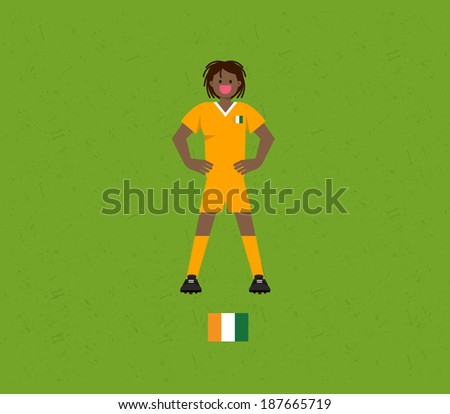 Ivory Coast Soccer Tables - stock vector